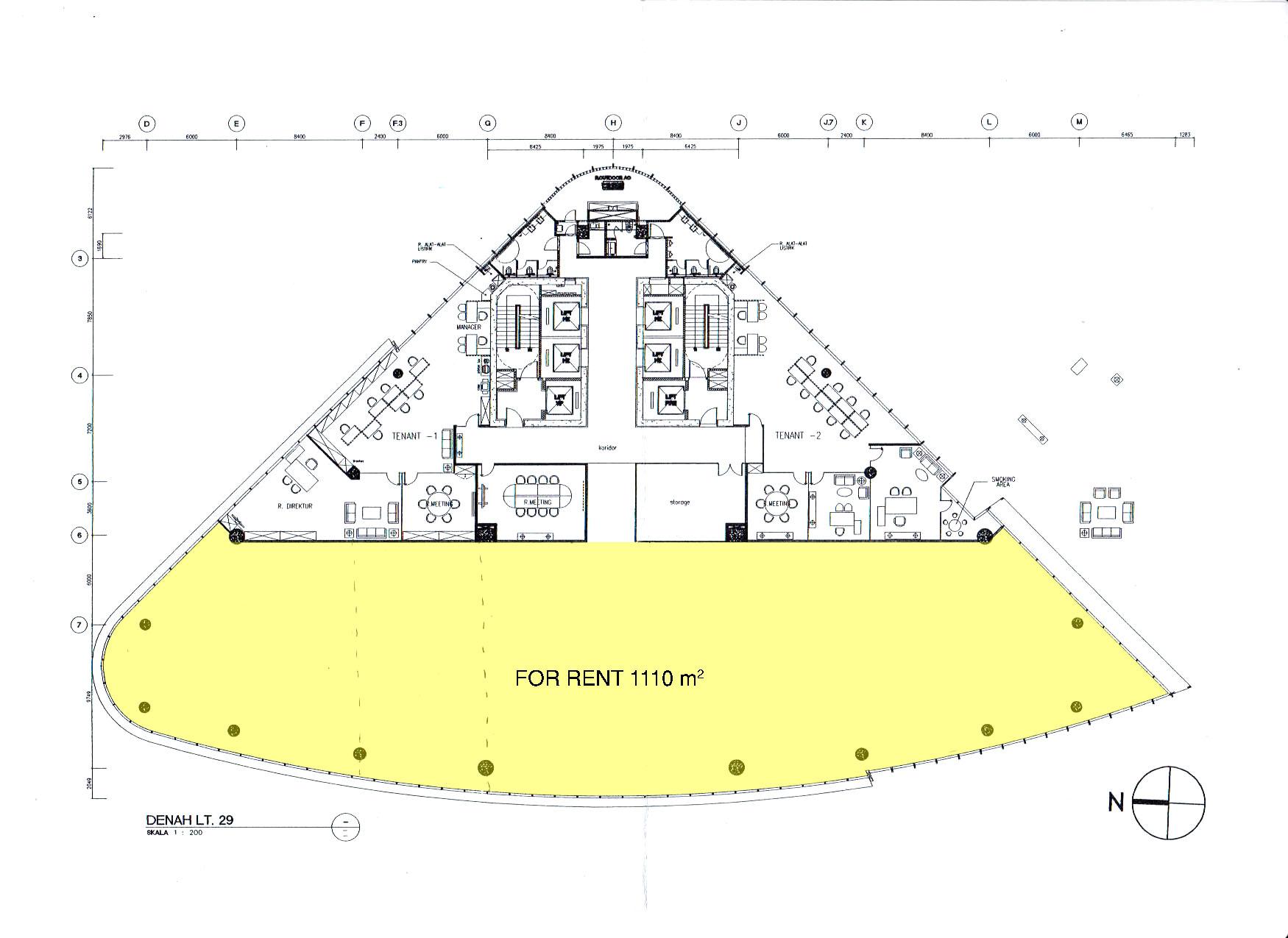 Office Space Jl. MH. Thamrin - Jakarta Pusat Disewakan