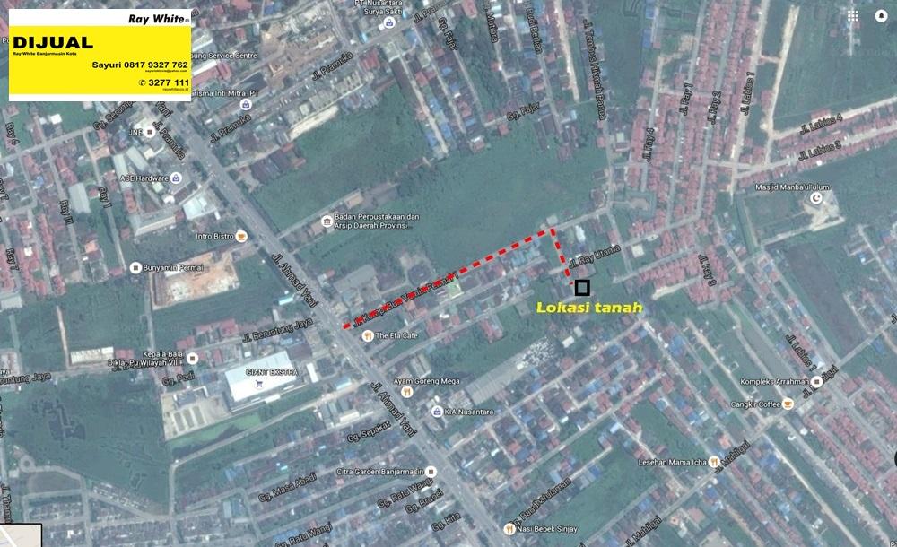 Tanah Jl. A.Yani Km 7 Komplek Bunyamin Permai I Kertak Hanyar
