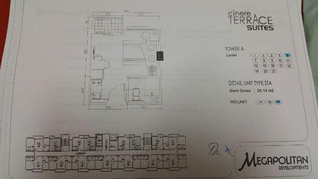 Di jual cepat Apartemen  baru Cinere Terrace suites, Cinere, Depok