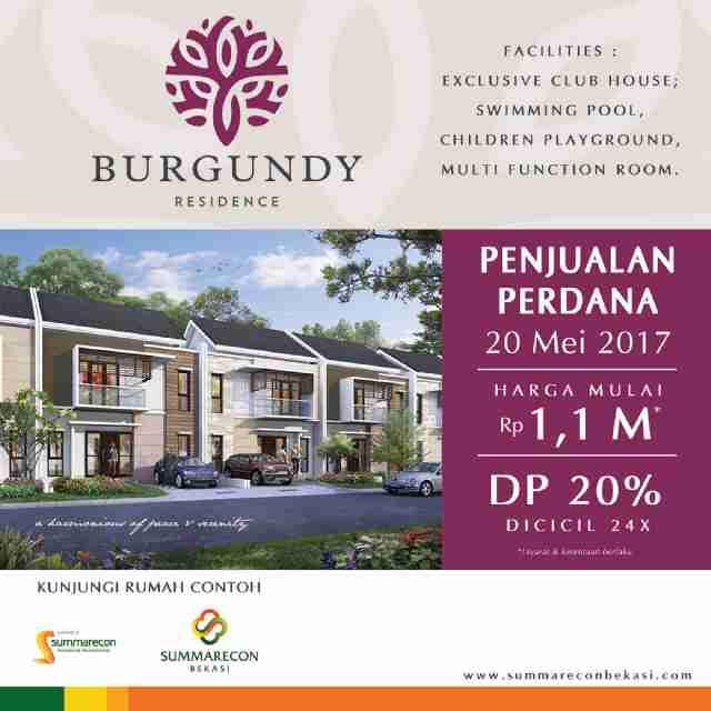CLUSTER BURGUNDY @THE ORCHARD SUMMARECON BEKASI
