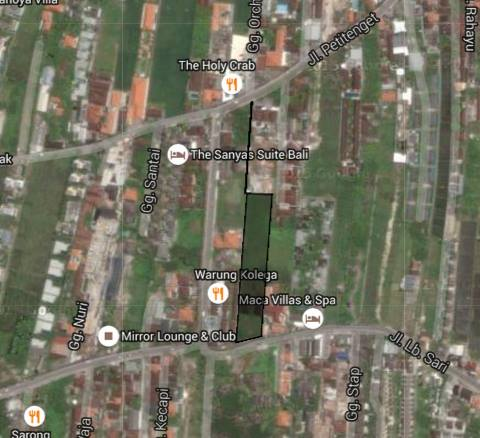 Ideal plot for development in the heart of Petitenget, Seminyak