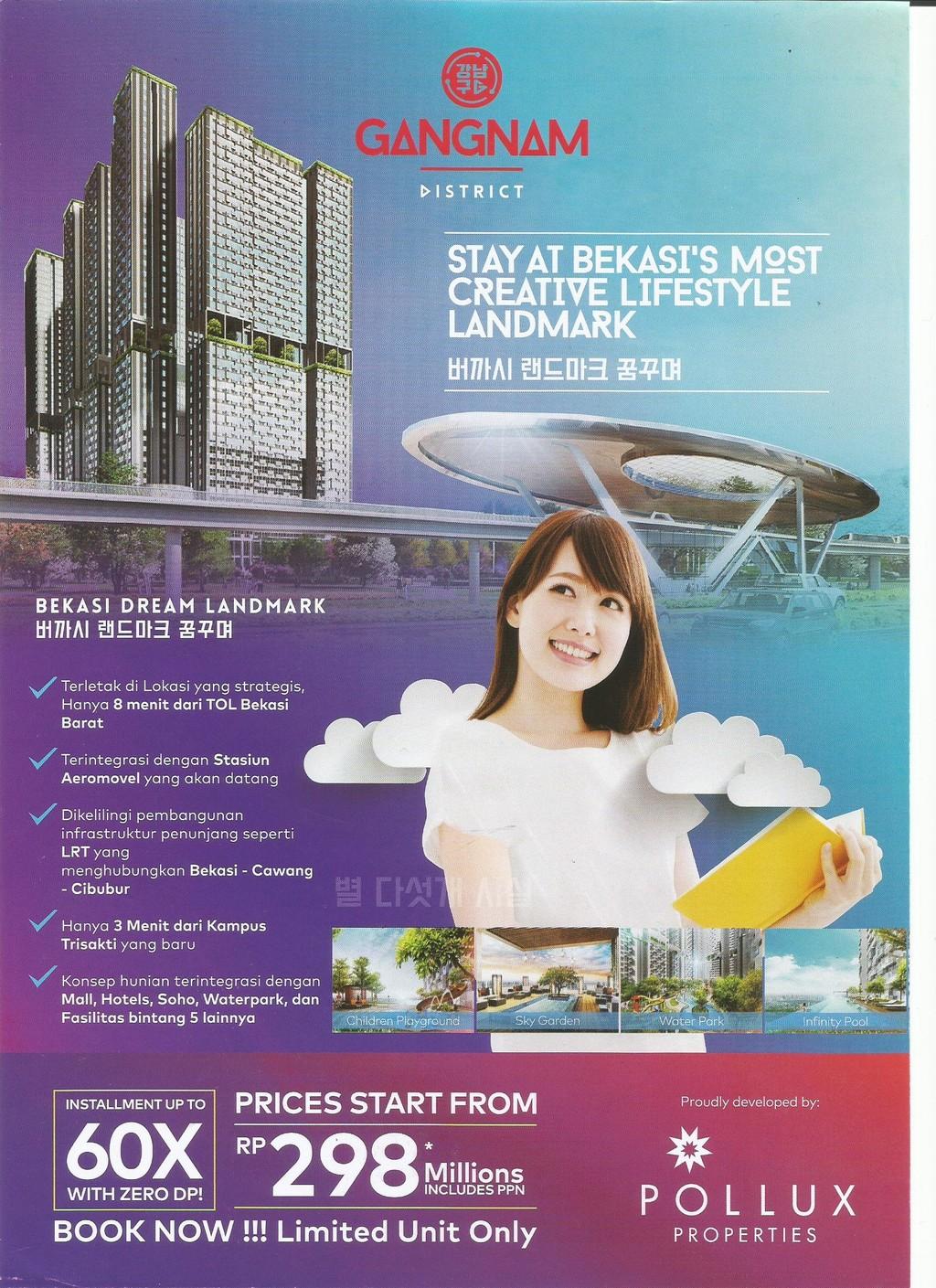 Apartemen Gangnam District di Bekasi Barat