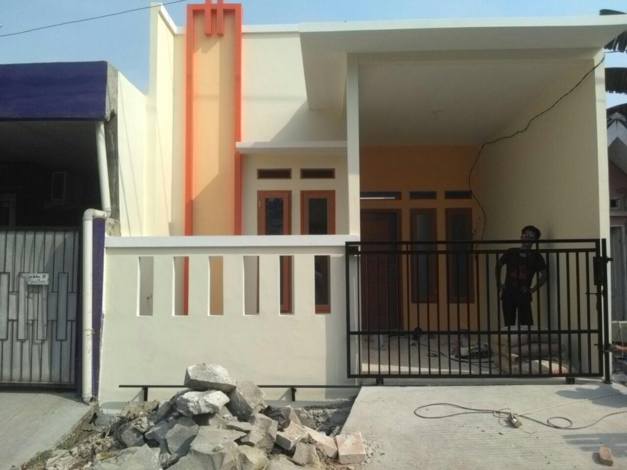 rumah baru renovasi siap huni 1 lantai cantik di vila gading harapan blok an10 babelan  bekasi jawa barat
