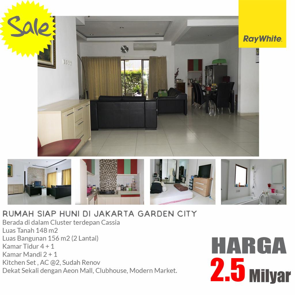 Rumah Dijual Siap Huni, Semi Furnish di Jakarta Garden City, Cakung Timur