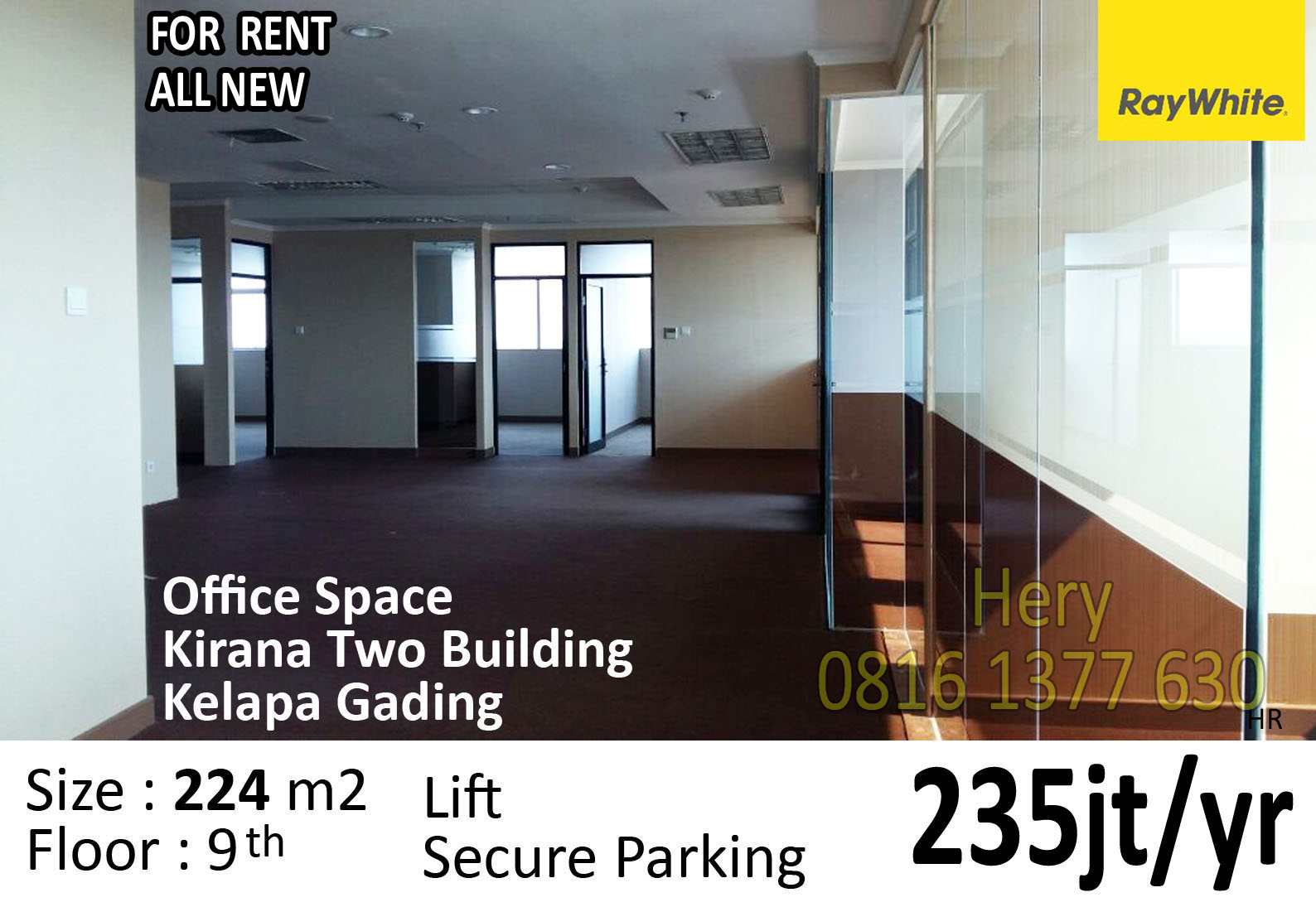 Office Space for Rent Kirana Two Building Kelapa Gading  North Jakarta