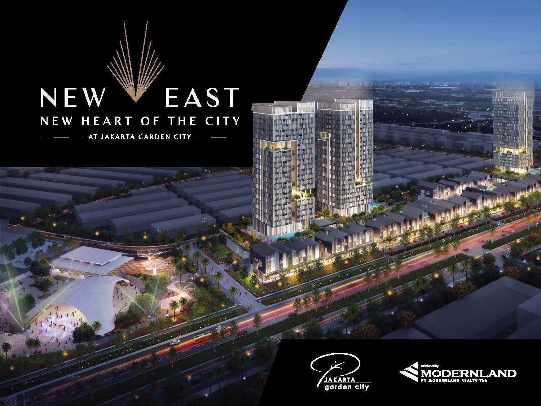 Ruko BARU NEW EAST di Jakarta Garden City, Cakung Timur, Jakarta Timur