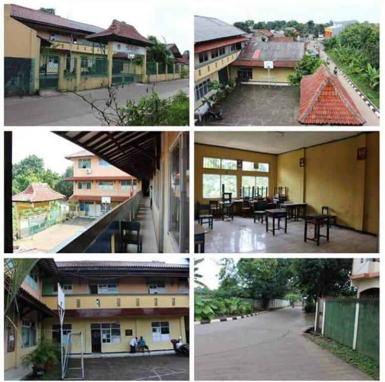Dijual Tanah dengan bangunan bekas sekolah SMK, Lokasi sangat strategis, akses lokasi mudah Kawasan Bekasi-Jabar