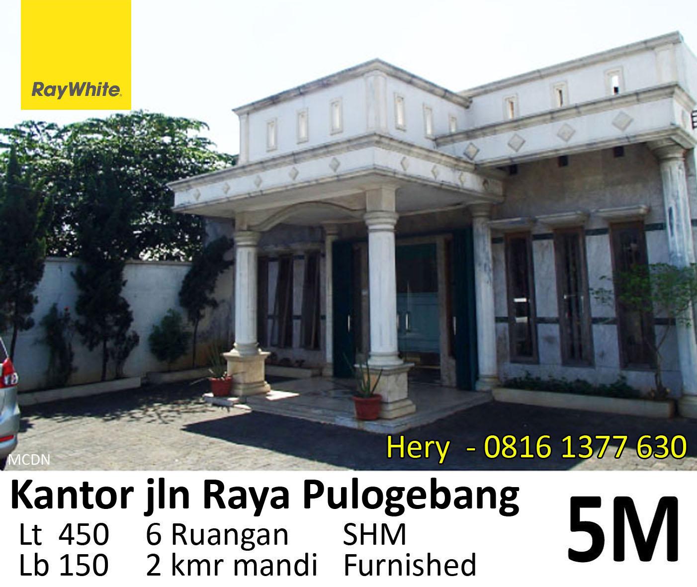 Dijual Rumah Kantor jalan Raya Pulogebang, Jakarta Timur