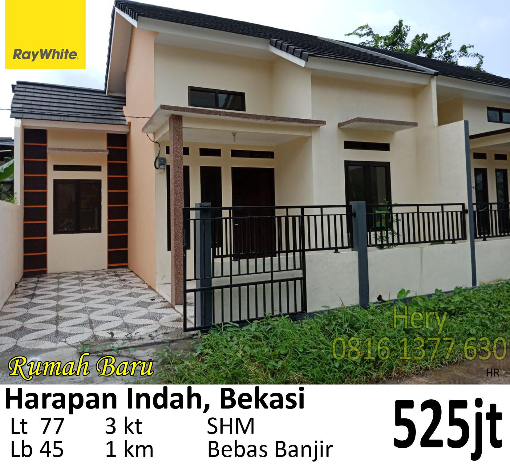 Dijual Rumah Baru di Harapan Indah Bekasi