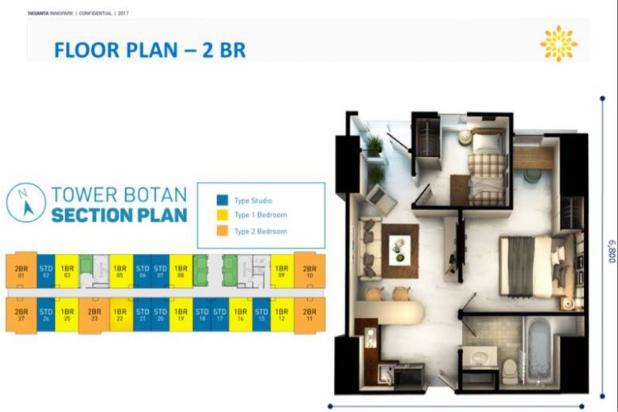 Dijual Apartemen VASANTA Tower BOTAN @ Cibitung Bekasi