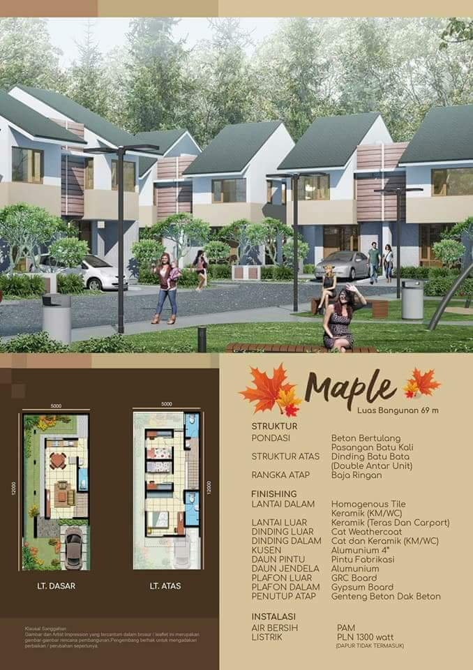 Dijual Rumah Murah 2 Lantai Cluster OAKWOOD @ Mutiara Gading City Bekasi