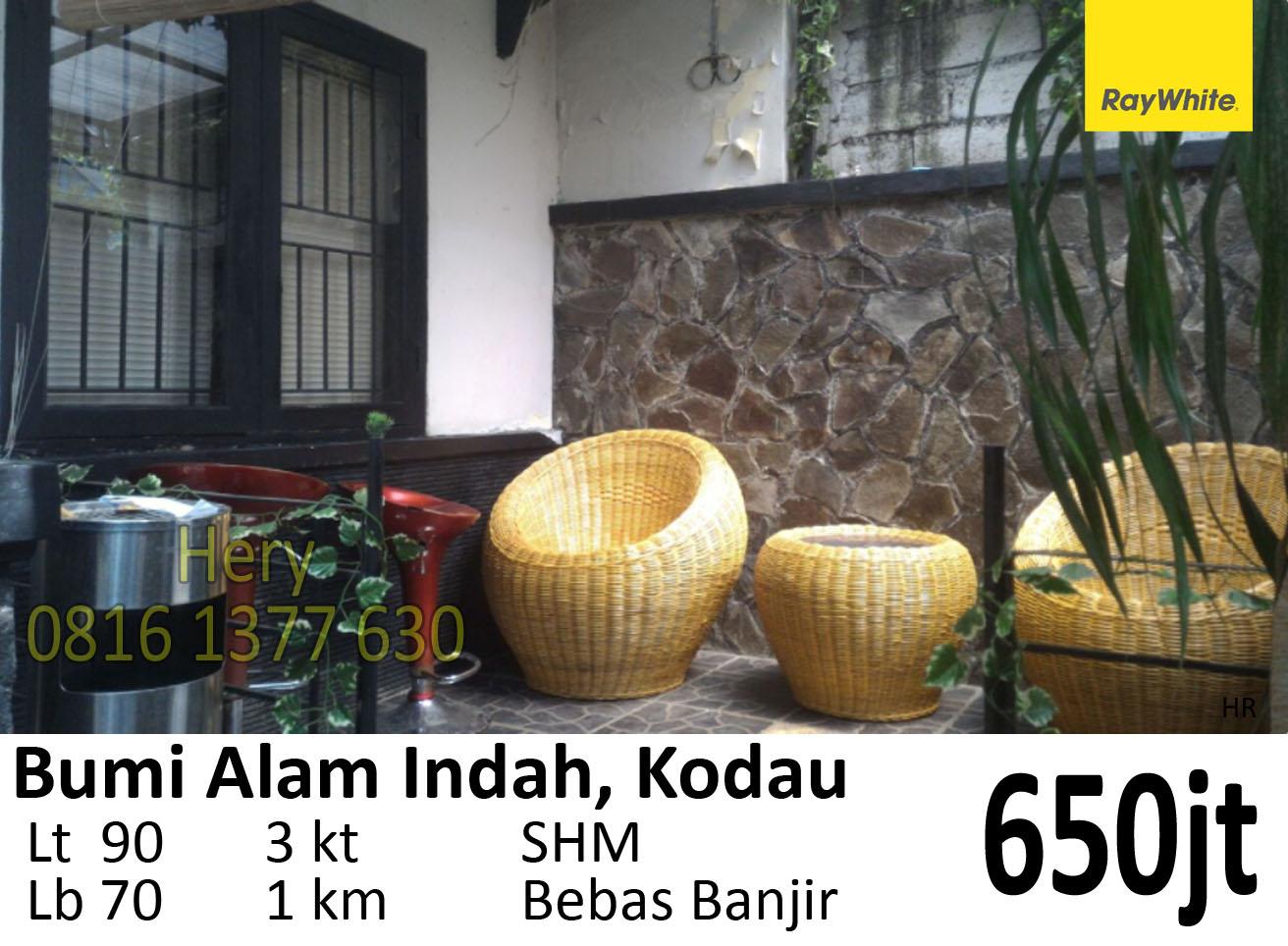 Dijual Rumah Nyaman Siap Huni di Kodau Jatiasih Pondok Gede Bekasi