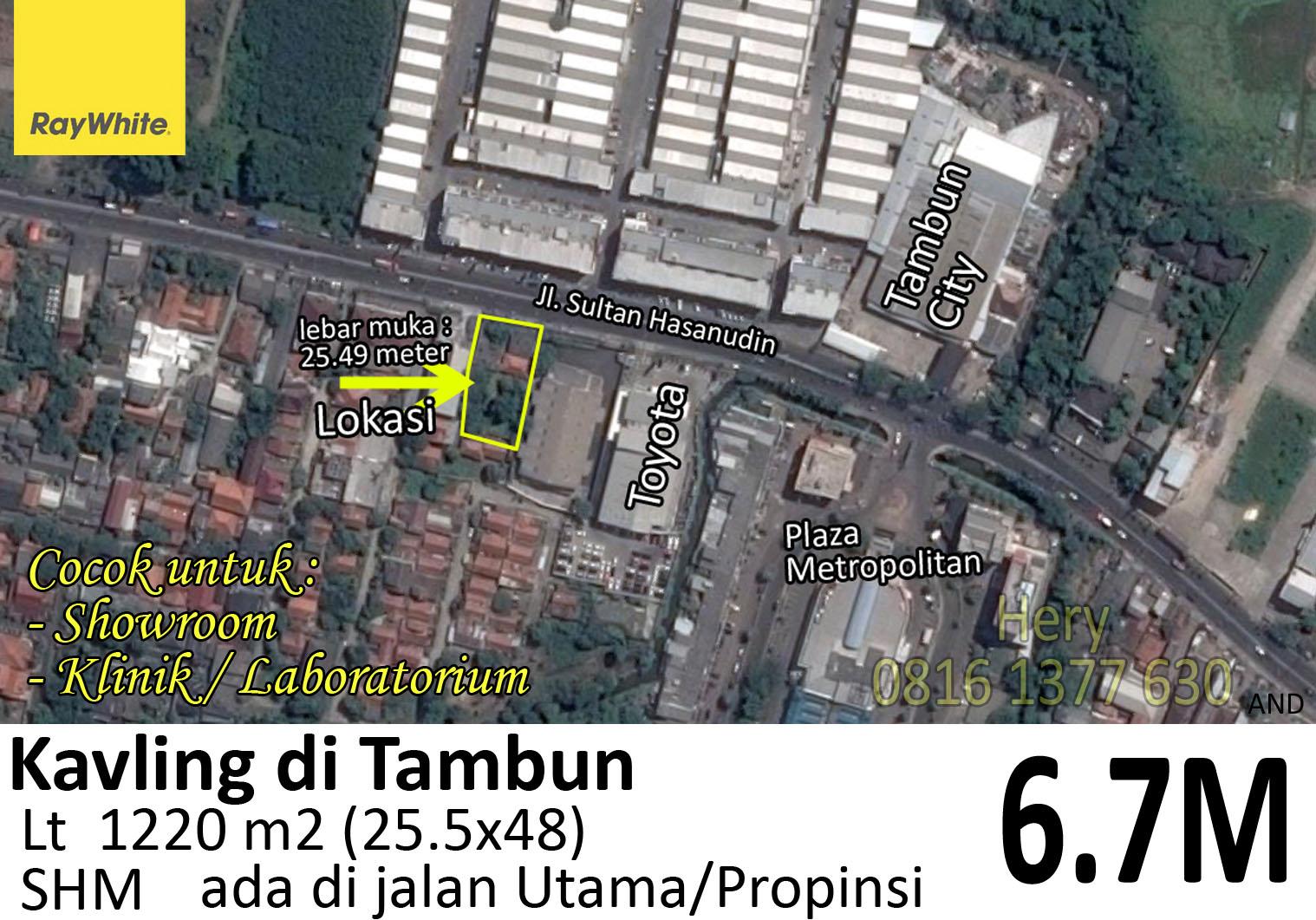 Kavling Strategis di Jalan Utama Sultan Hasanudin Tambun