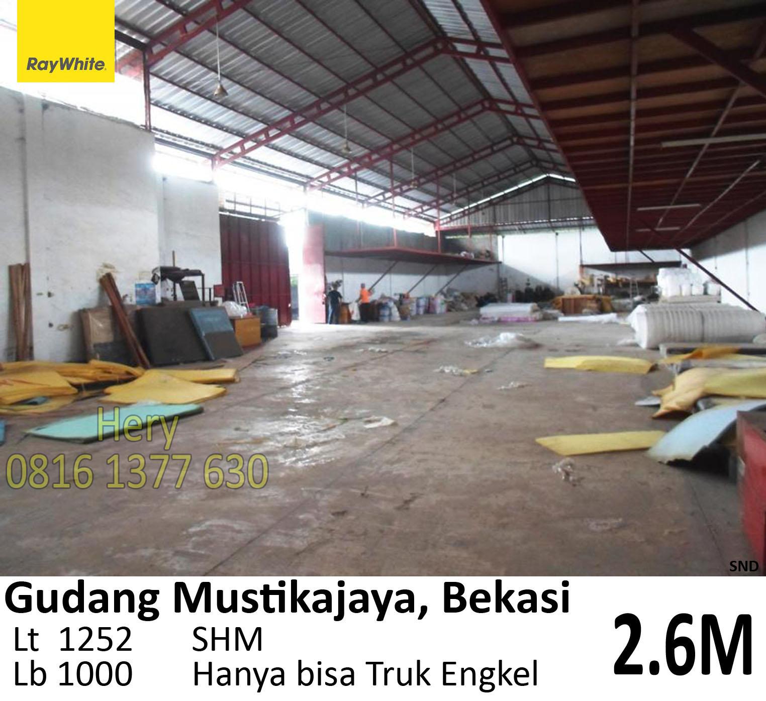 Dijual Gudang di Cimuning Mustikajaya Bekasi