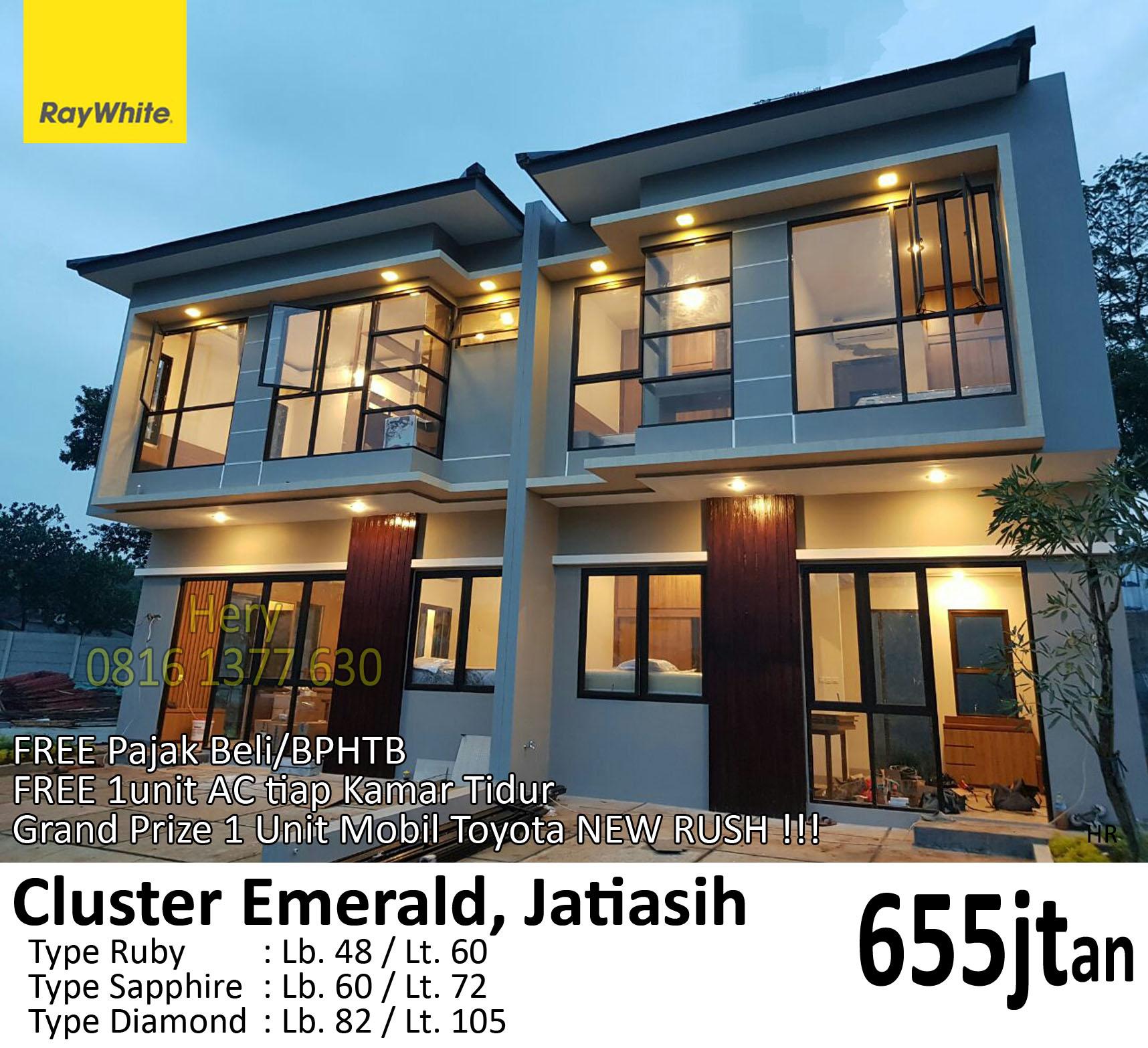 Rumah Baru Cluster Emerald Jatiasih Bekasi 600jtan - | Ray ...