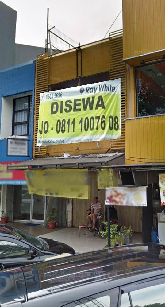 Ruko di Sewa Boulevard Raya-Kelapa Gading-Jakarta Utara