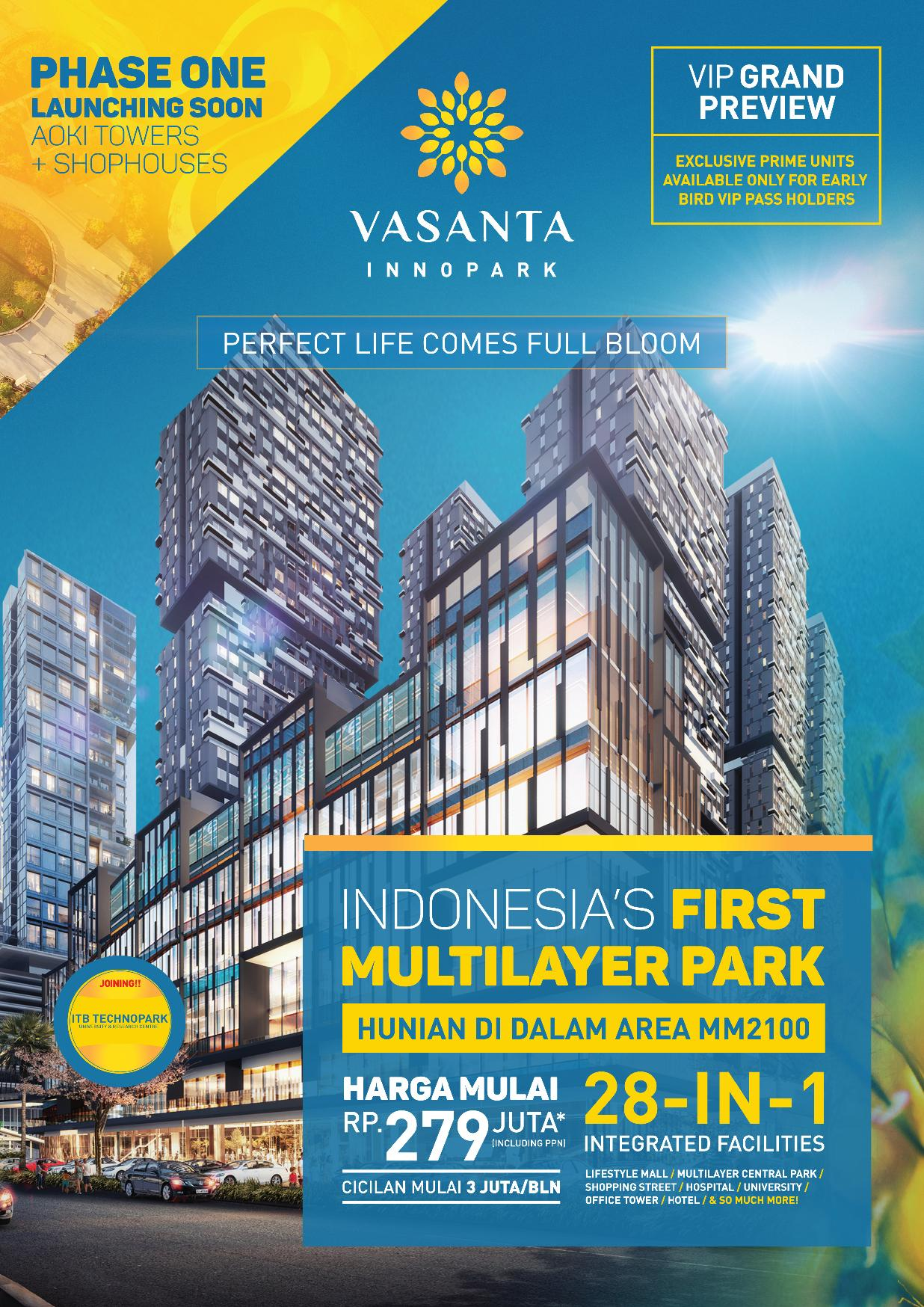 Apartment Vasanta Innopark, Lokasi Strategis, Investasi Bernilai Tinggi di Cibitung