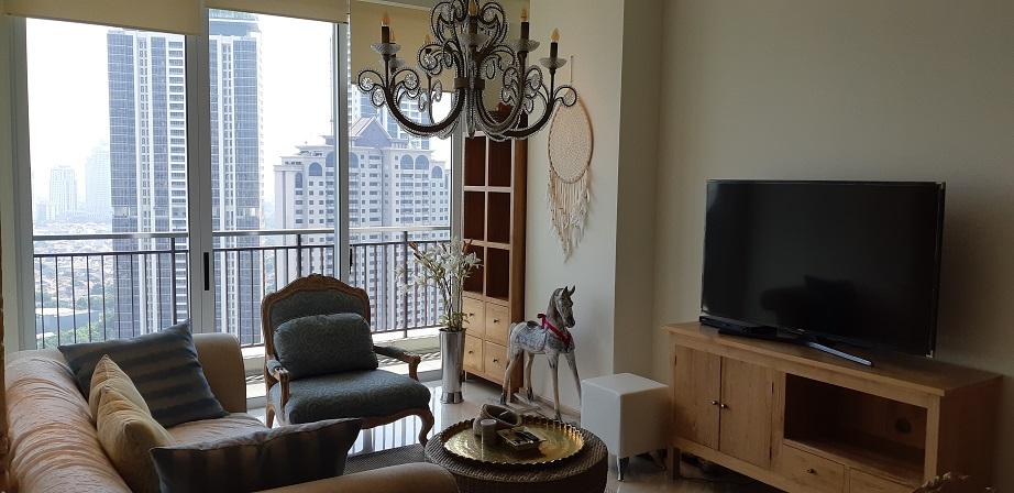 Apartemen di Pakubuwono House, Tower Rosewood, Lantai 28, City View, Semi Furnished, Luas 175 m2