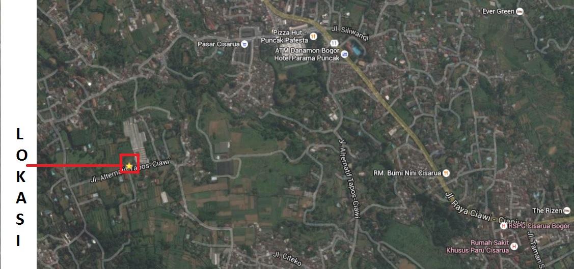 Cisarua Bogor, Tanah Ngantong Harga Wajar Dekat Taman Safari View Gunung Salak, Dijual